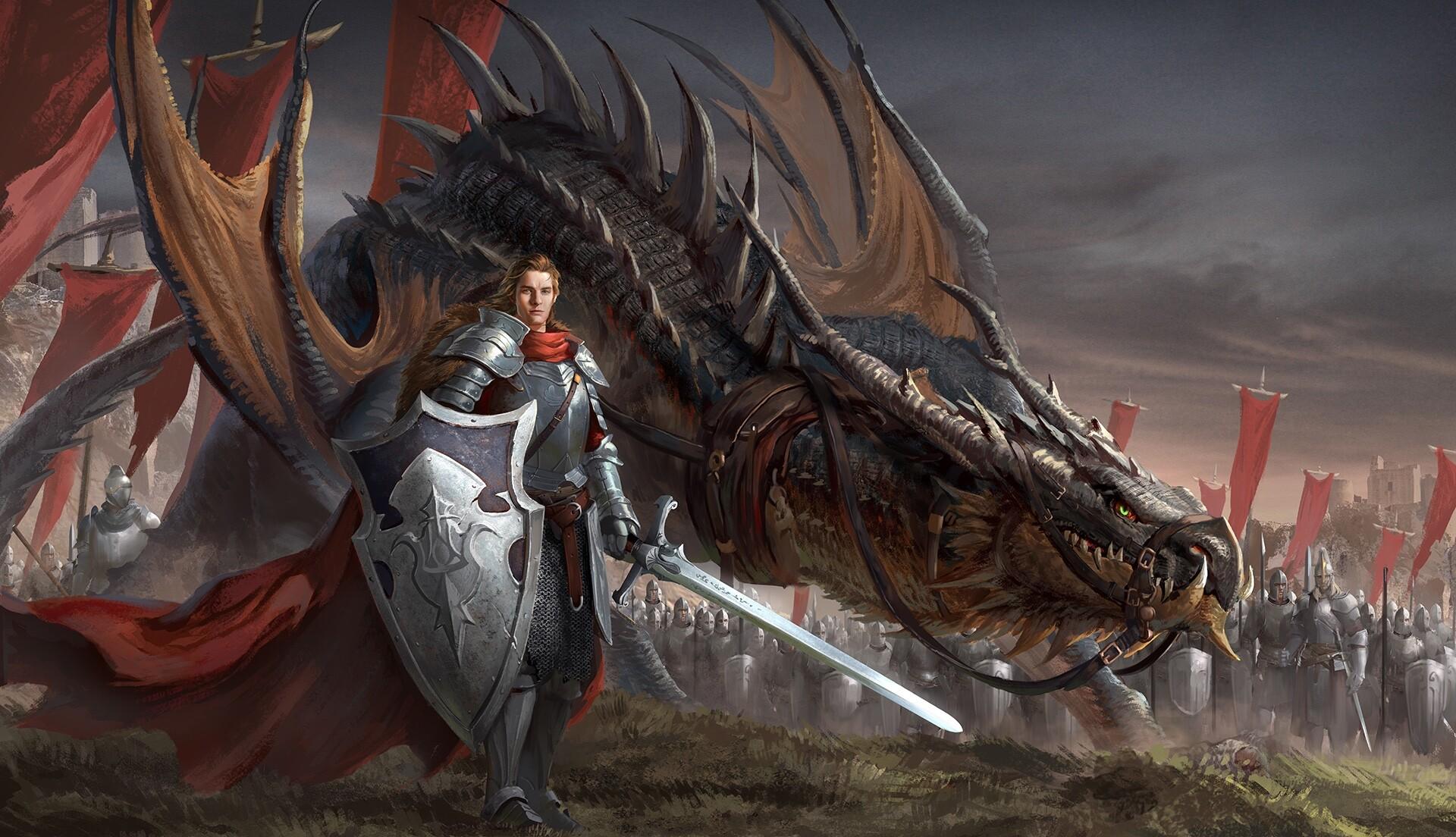 Рисунки фото дракона с мечом