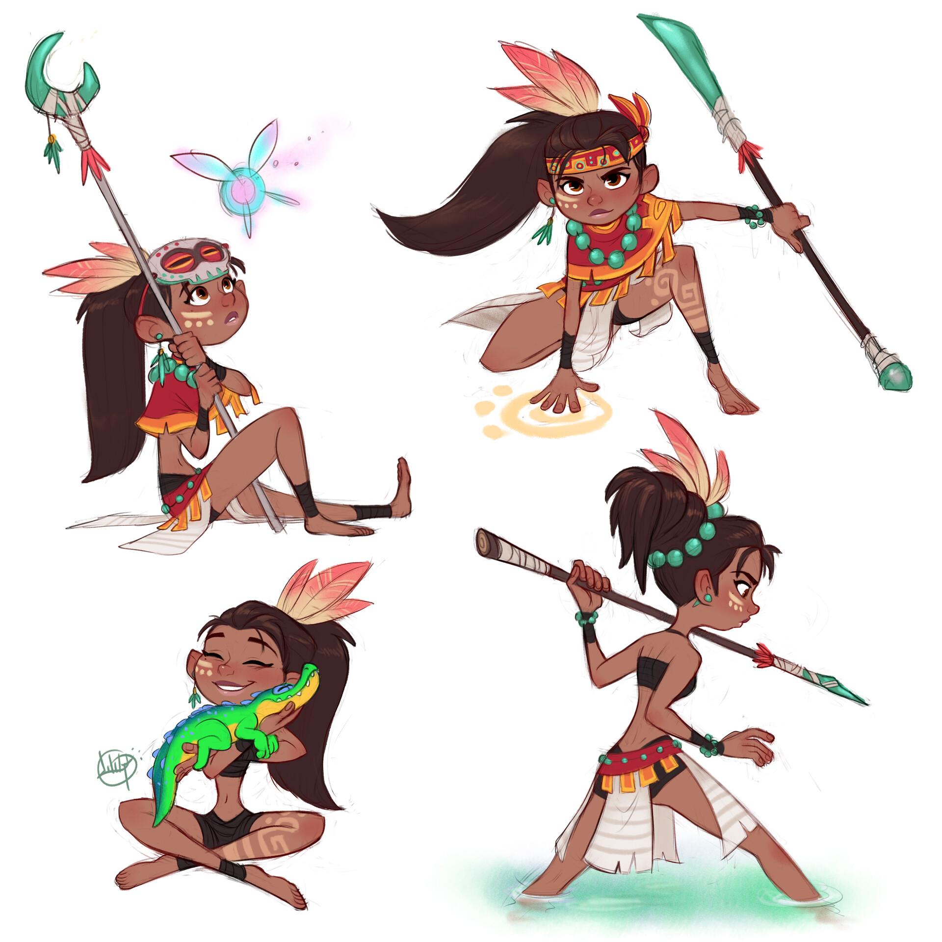 Luigi lucarelli tribal girl poses