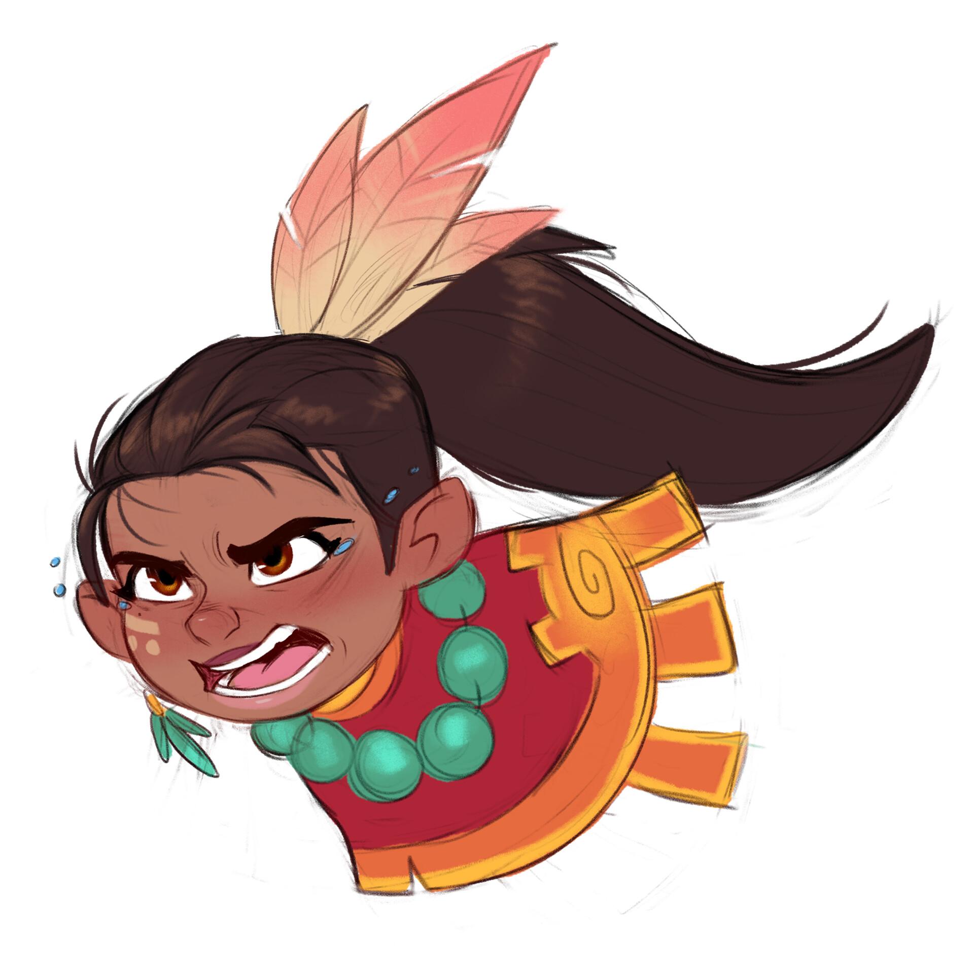 Luigi lucarelli tribal girl expressions 5