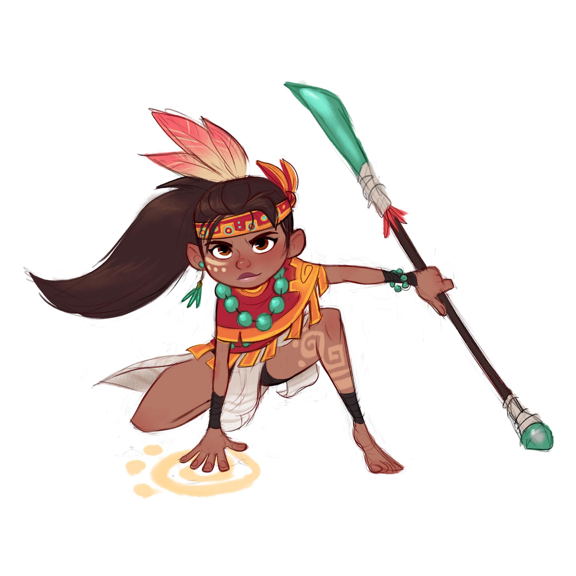 Luigi lucarelli tribal girl poses 2