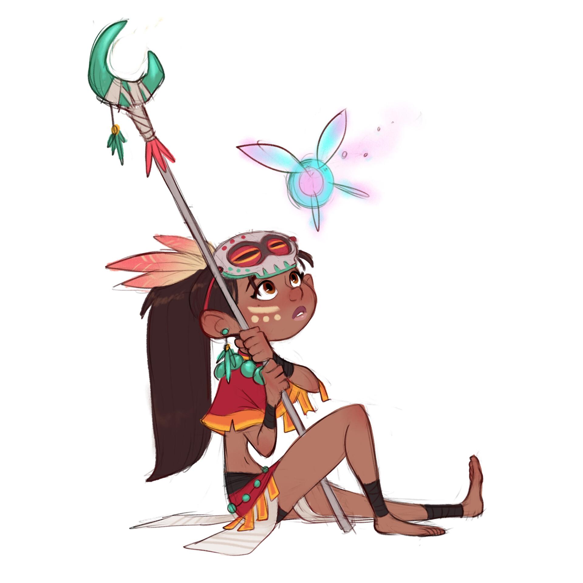 Luigi lucarelli tribal girl poses 3