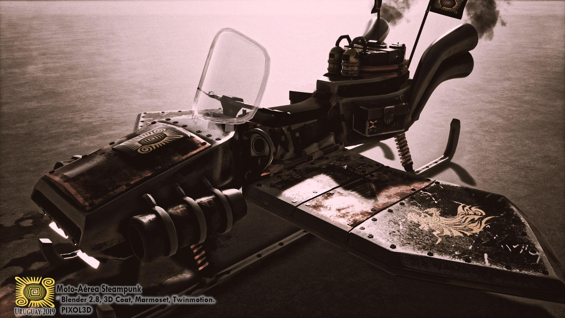ArtStation - VEHICULO STEAMPUNK BLENDER, Alejandro Salazar