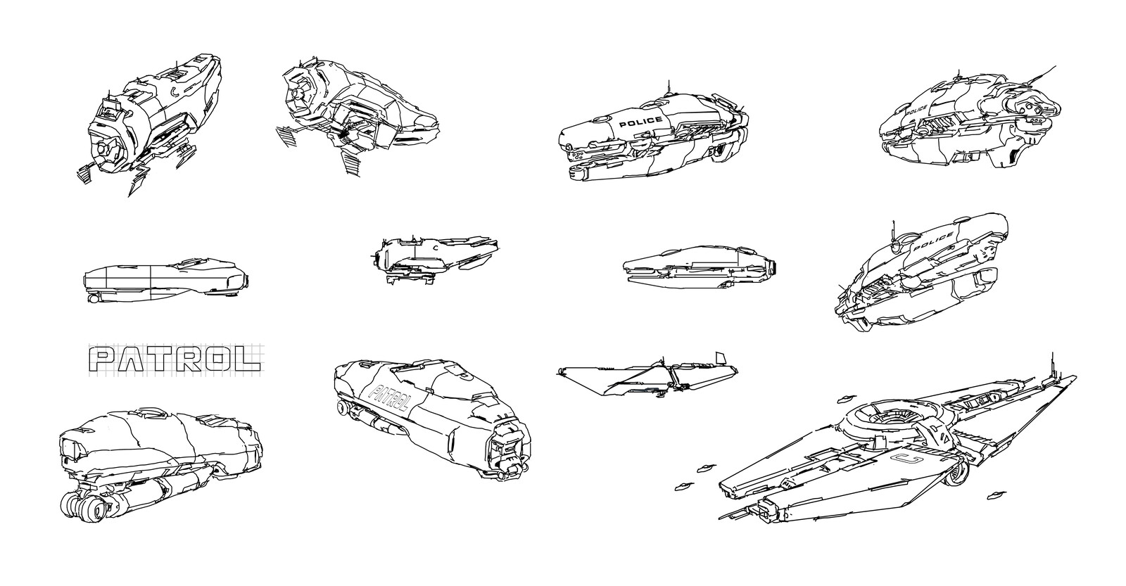 random ship doodle 3