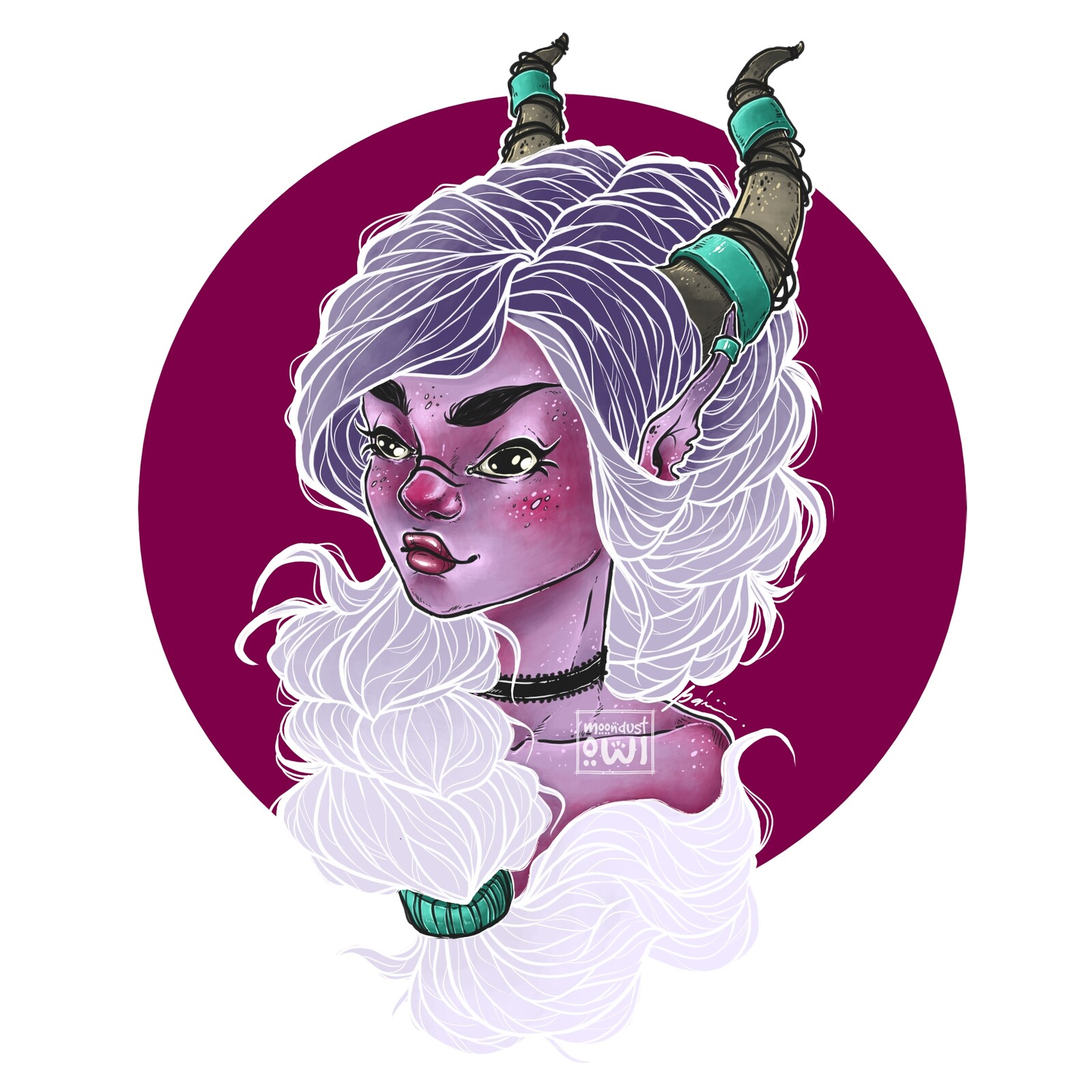 Finished character portrait, light hair