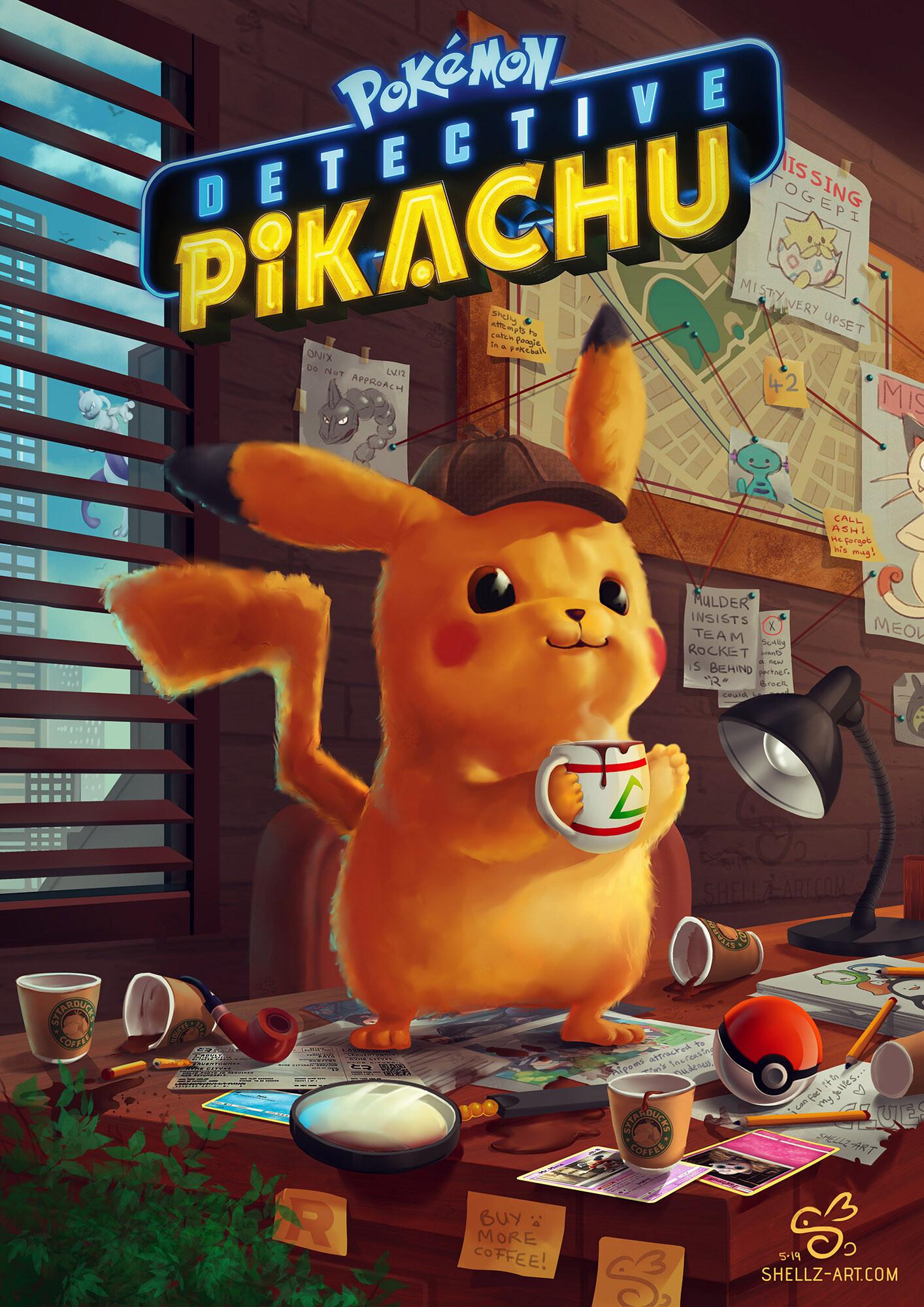 Shellz art detective pikachu sig small