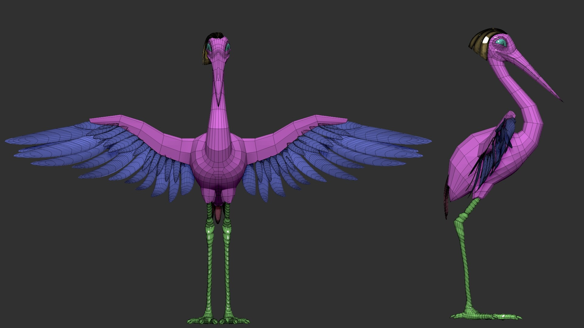 Marcelo r souza preview1 lowpoly stork