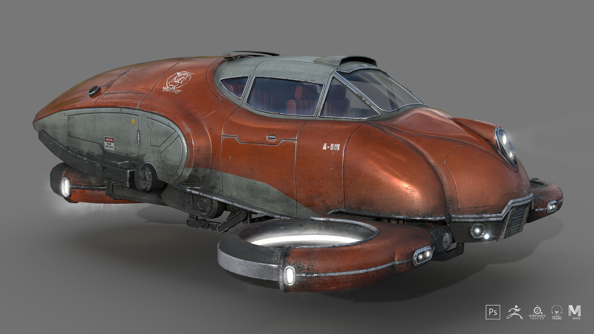 Jakub m scifi car