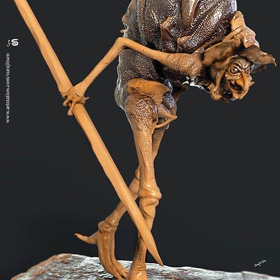 Surajit sen hunchback v1 digital sculpture surajitsen may2019