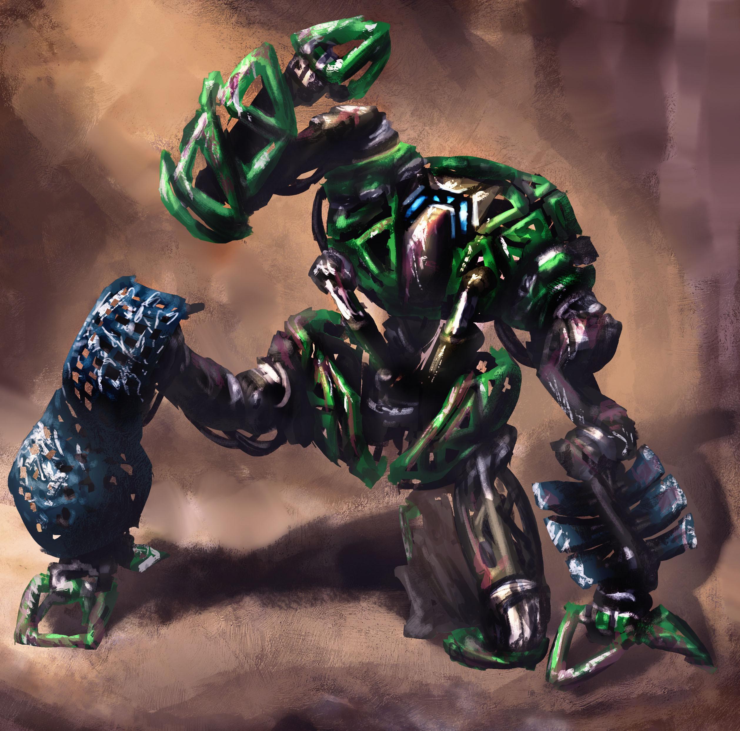 Paint Sketch: Junk Bot 02