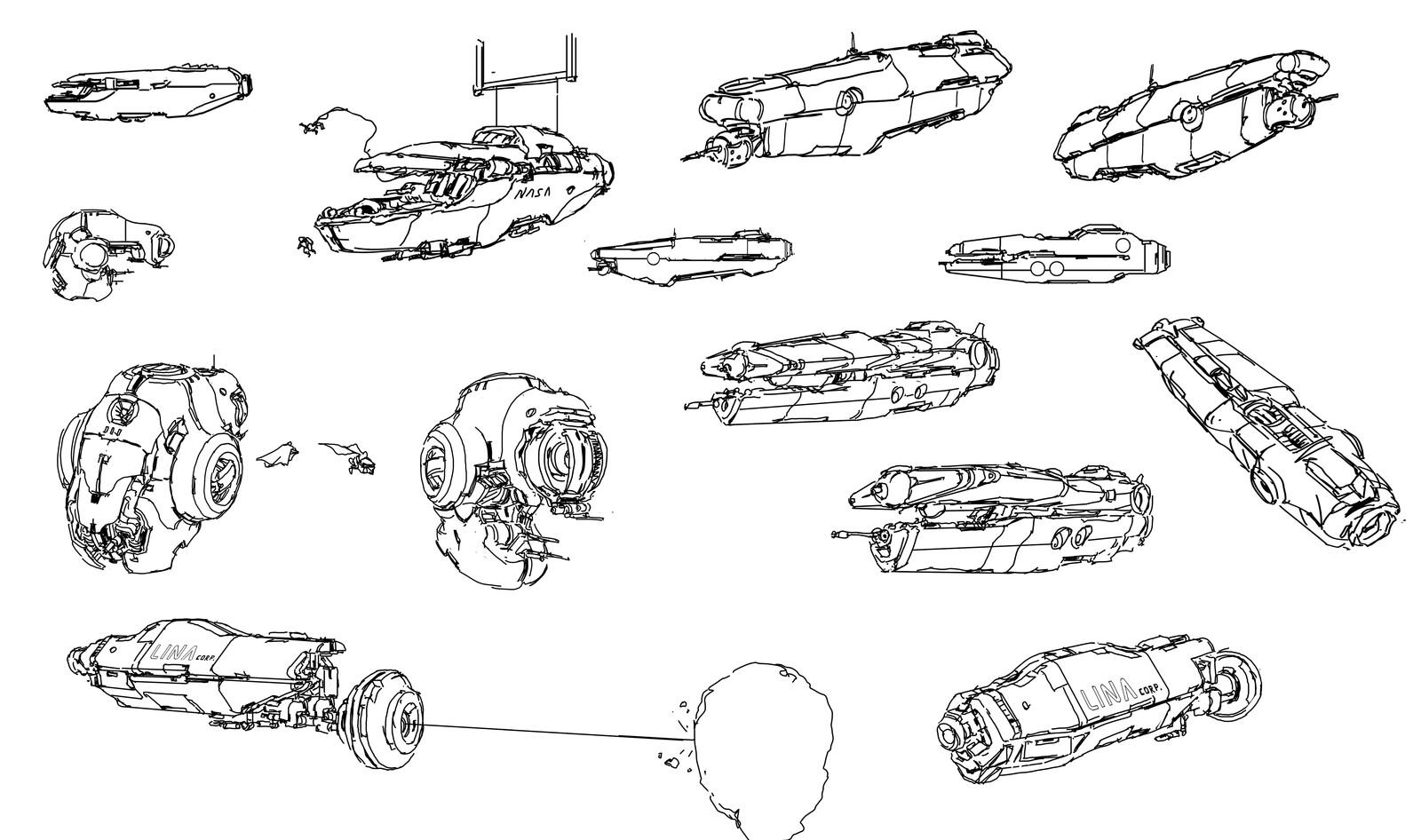 random ship doodle 4