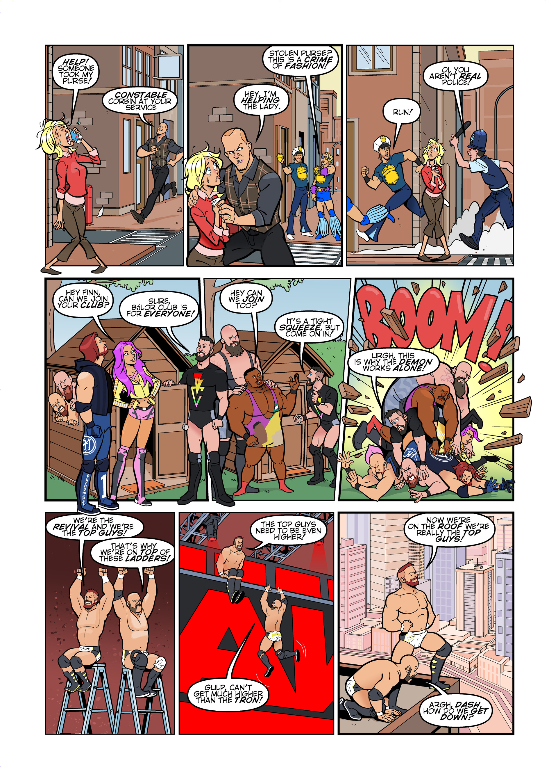 WWE comic strips for WWE Kids Magazine #140