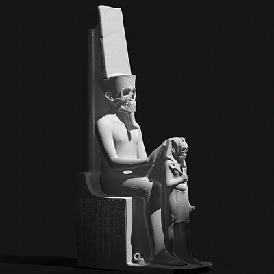 King Tutankhamun as Amun & Horemheb from Luxor Temple, revisited by me