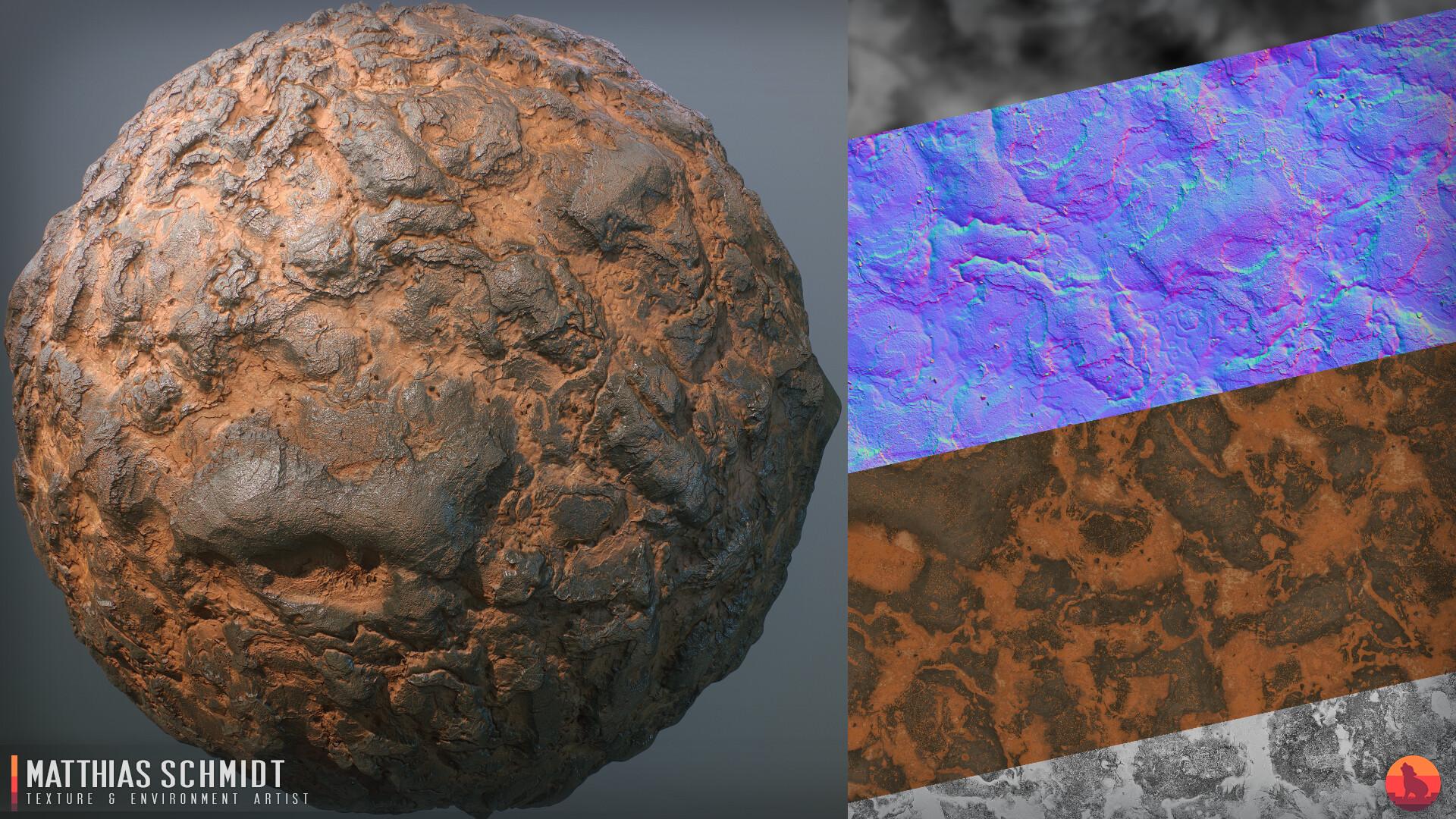 Matthias Schmidt - Alien Planet Layered Terrain Substances