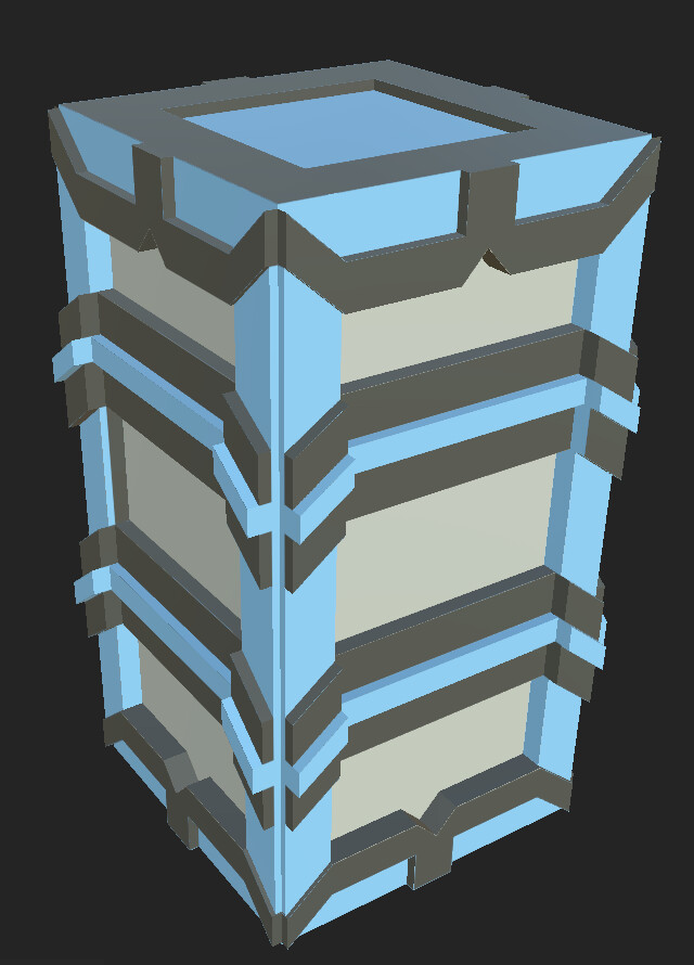 This is the pillar model that I designed, UV'd, and textured.