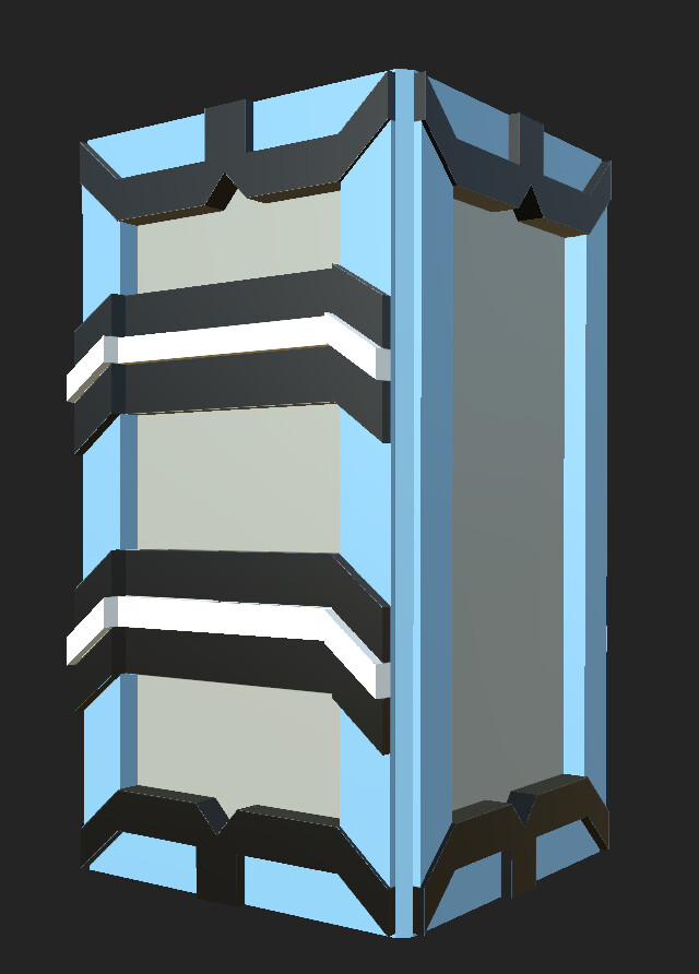 This is the wall tower model that I designed, UV'd, and textured.