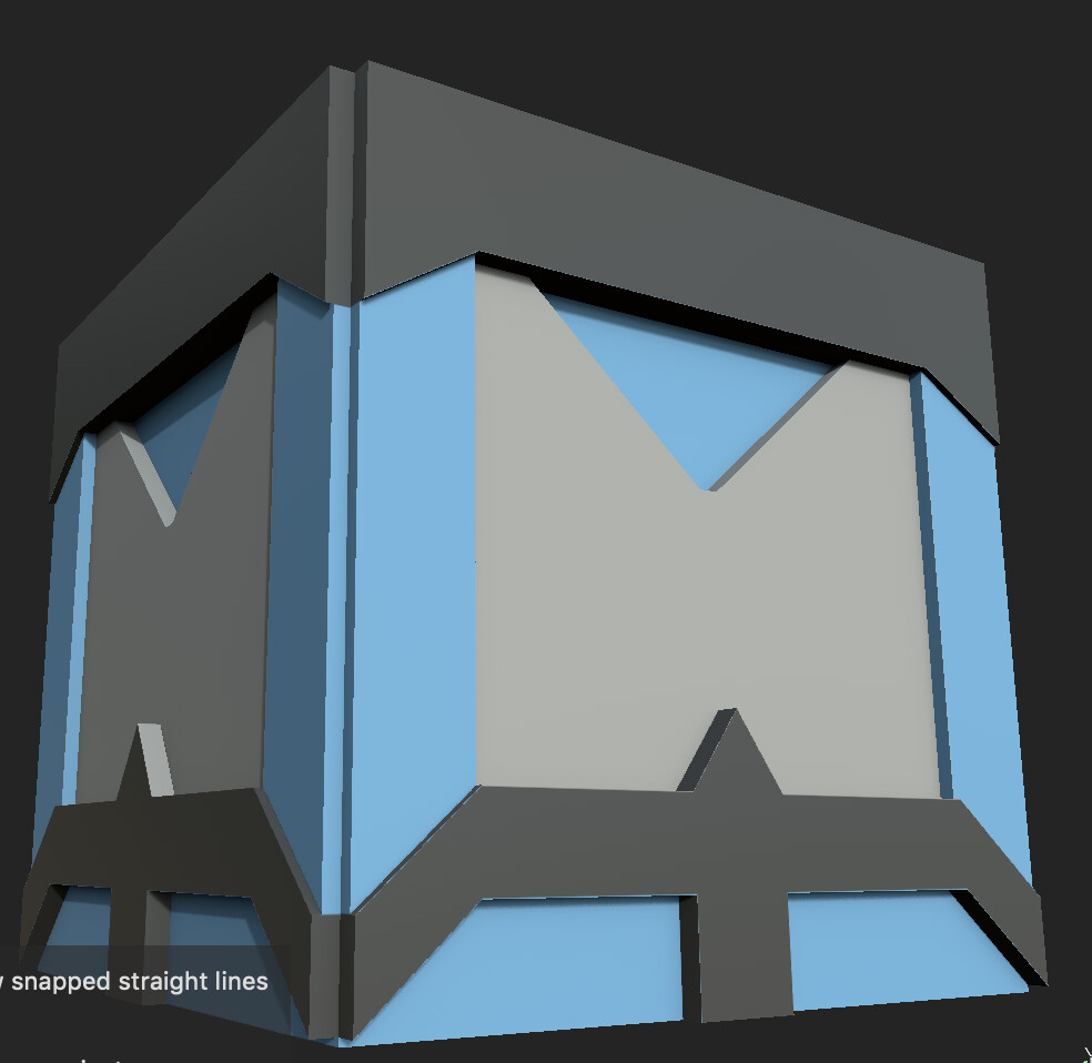This is the box model that I designed, UV'd, and textured.
