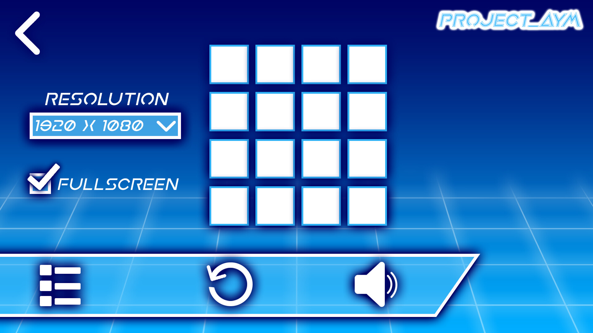 This is the Option menu screen that I designed.