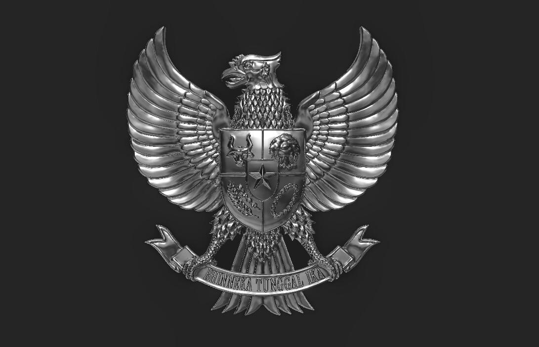 artstation 3d relief of indonesia national symbol garuda pancasila joko apridinoto 3d relief of indonesia national symbol