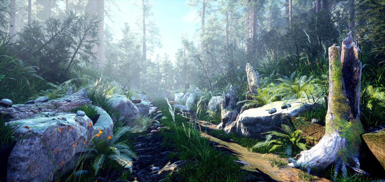 Unreal Forest Study