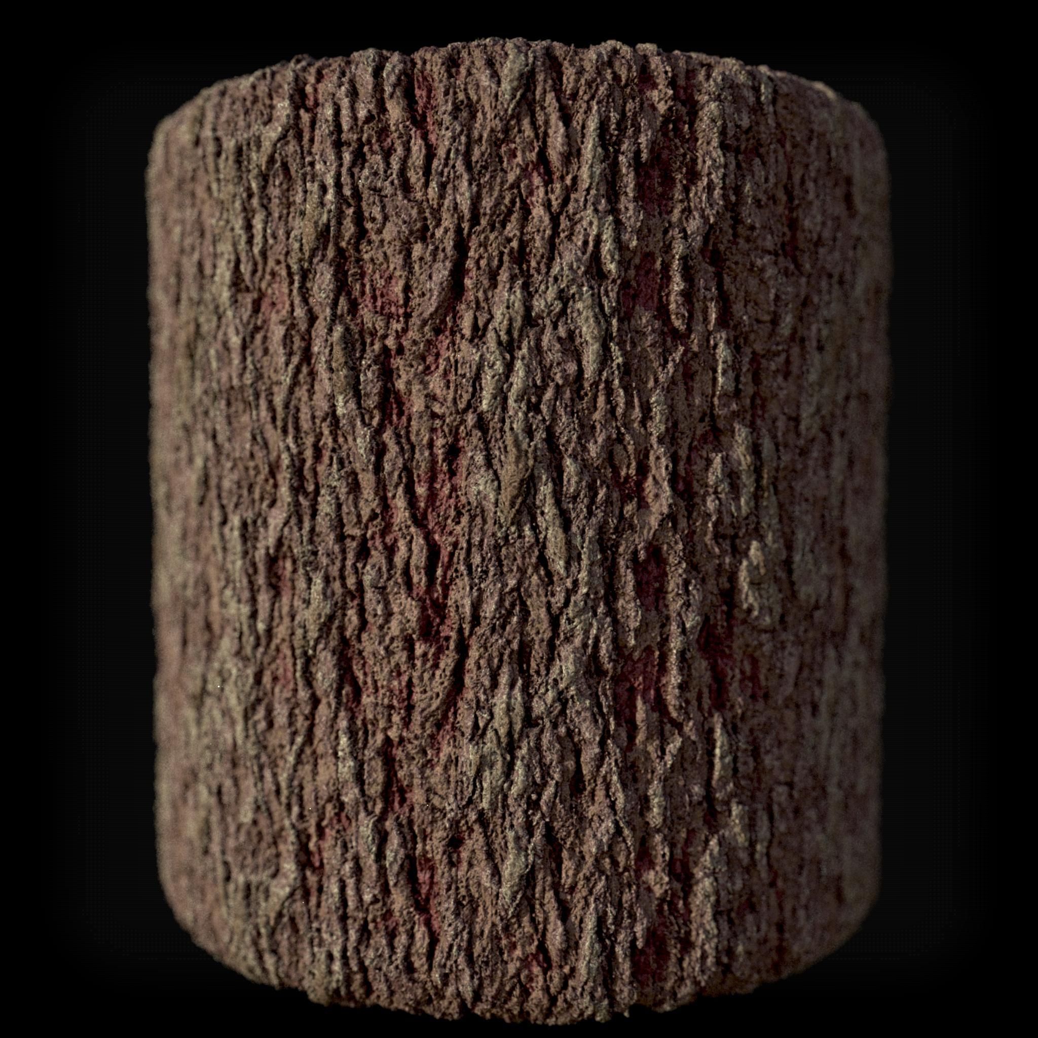 Bark Material, based on Zbrush Sculpt.
