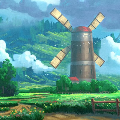 Travis lacey windmill hills travis lacey concept environment web
