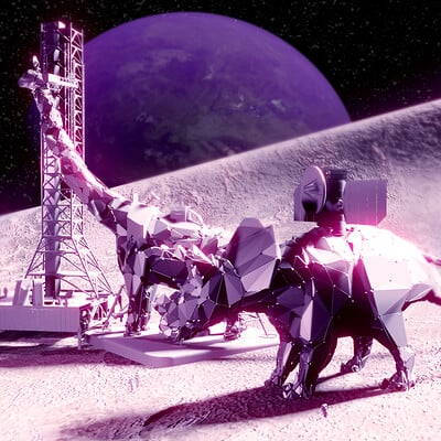 Stephen somers roboto dinosaurs on the moon today