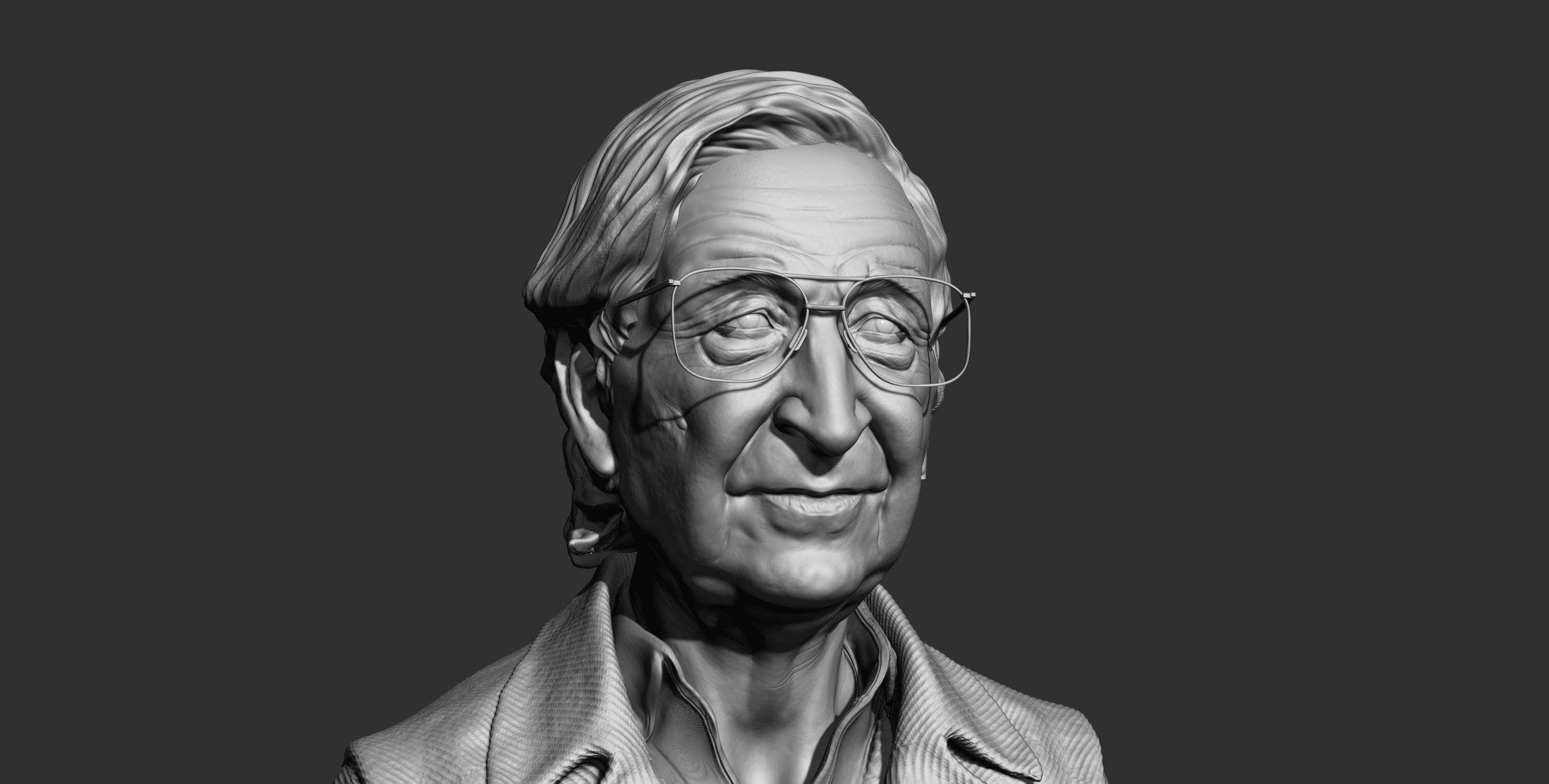 Noam Chomsky  render PBR z brush