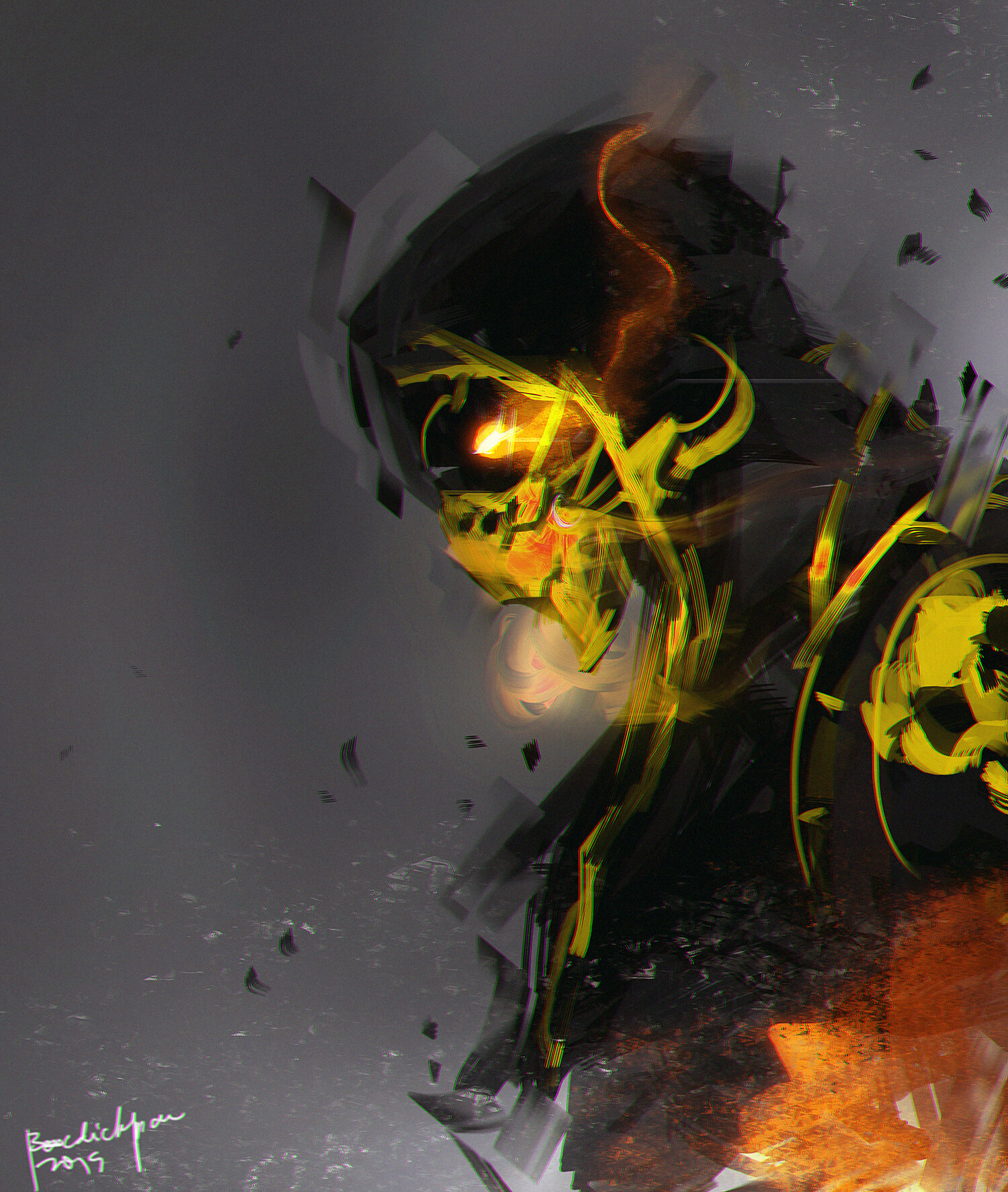 scorpion mortal kombat fan art