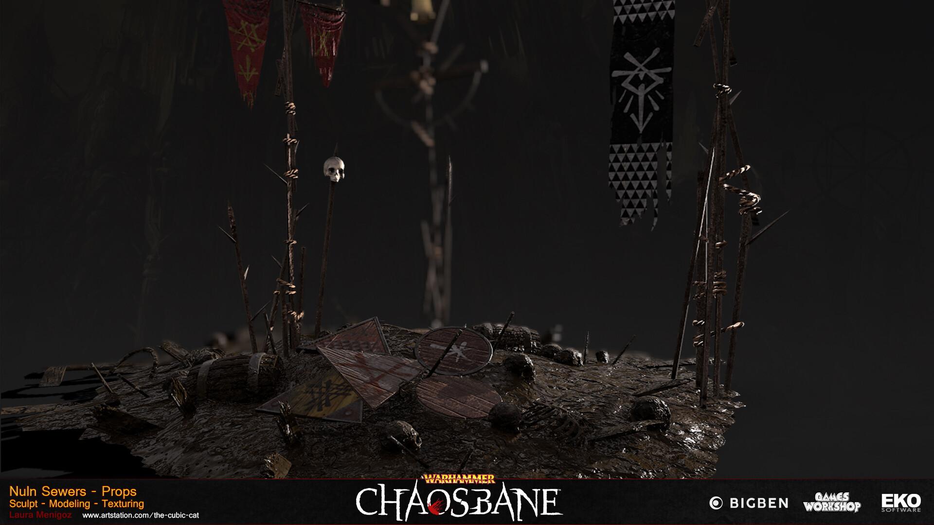 Artstation Warhammer Chaosbane Skaven Props Laura Menigoz