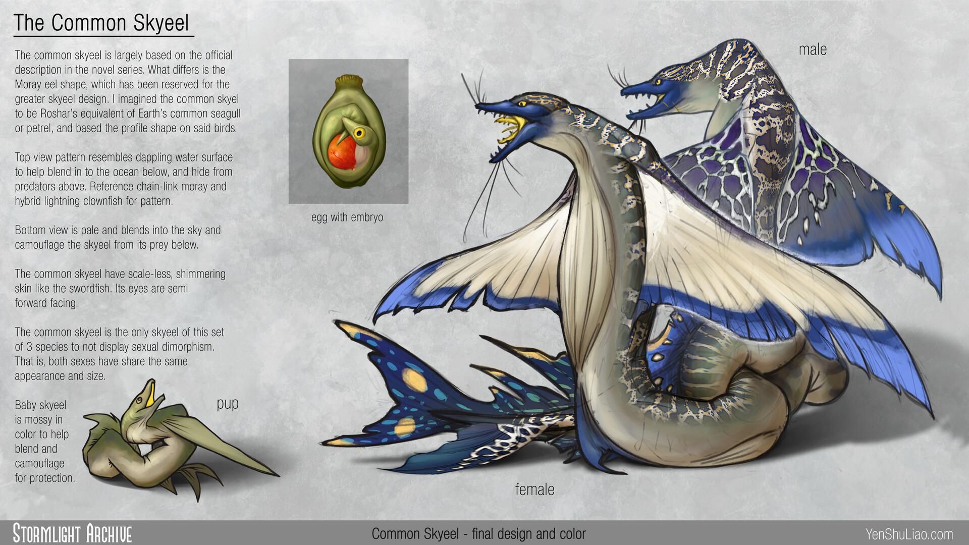 Yen shu liao stormlightarchive skyeel common creature concept main yen shu liao