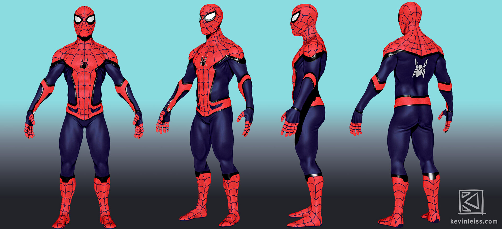 The 3D-Model of Spider-Man.