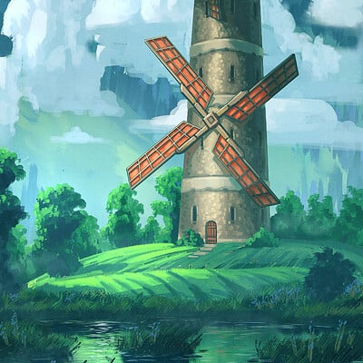 Travis lacey concept art large windmill travis lacey web