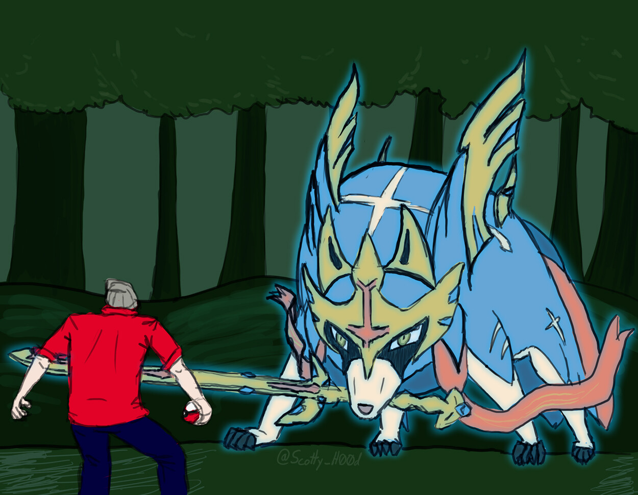 Artstation Zacion The Great Sword Pokemon Scott Borland