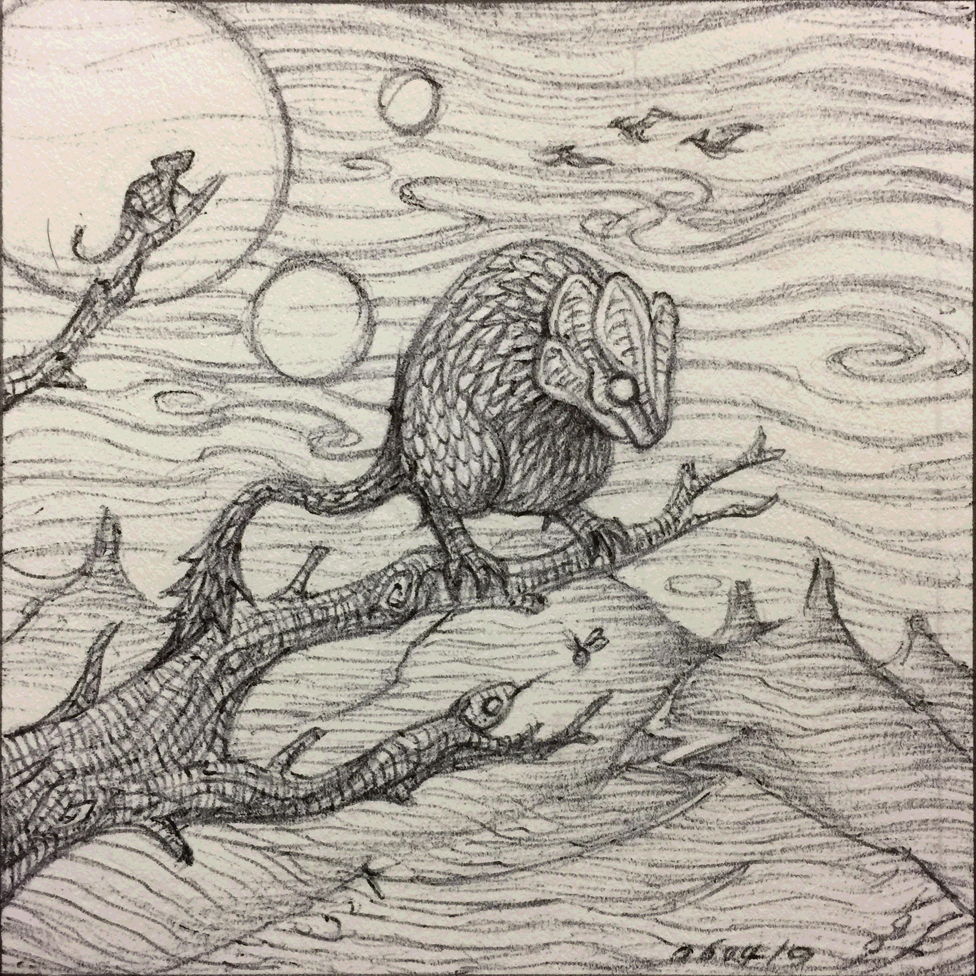 Alien Reptiles II - Sketch