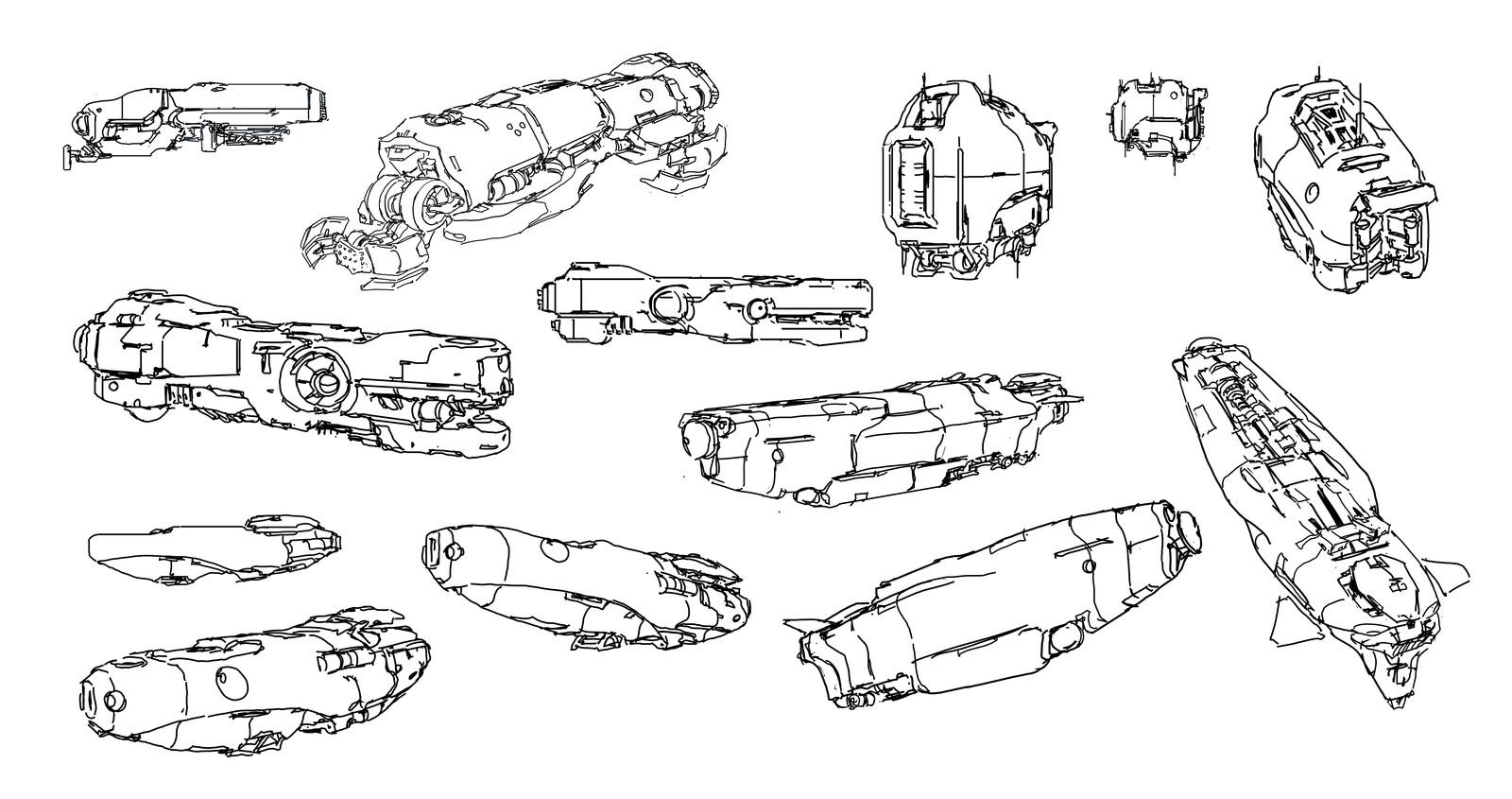 random ship doodle 5