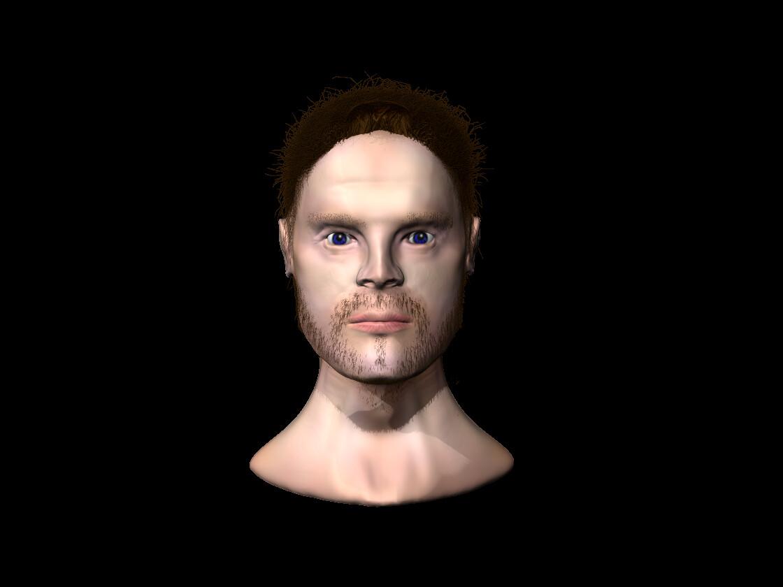 Coloured version of head sculpt