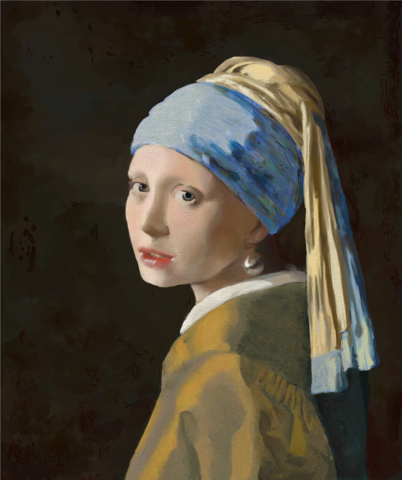 """My take on """"Girl with a Pearl Earring"""""""