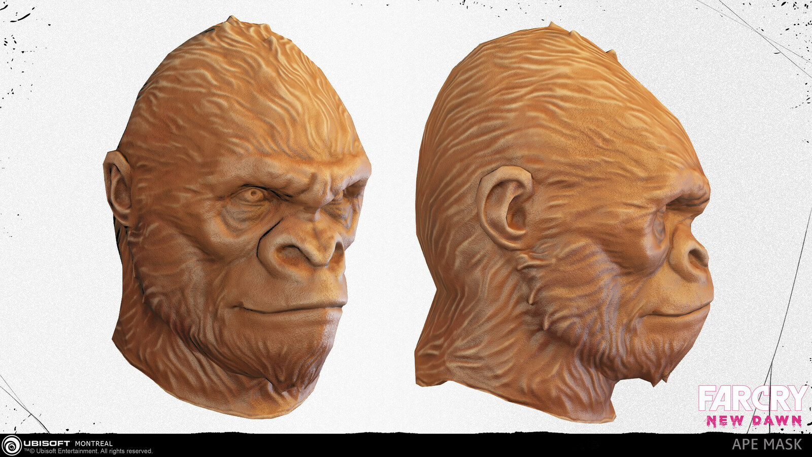 I designed and created the Ape mask