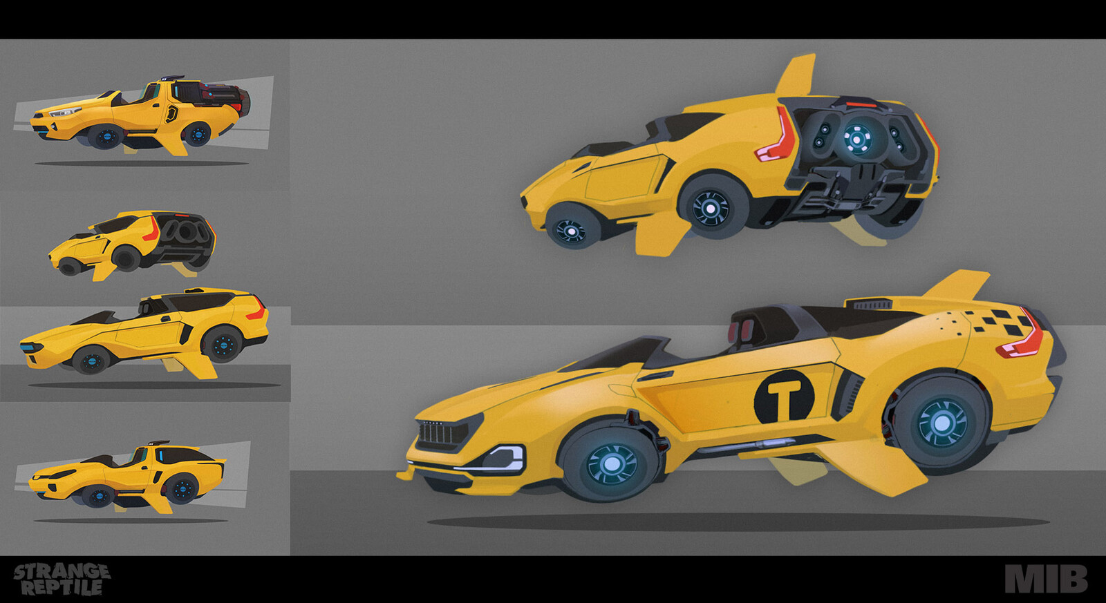 Initial concept paintings