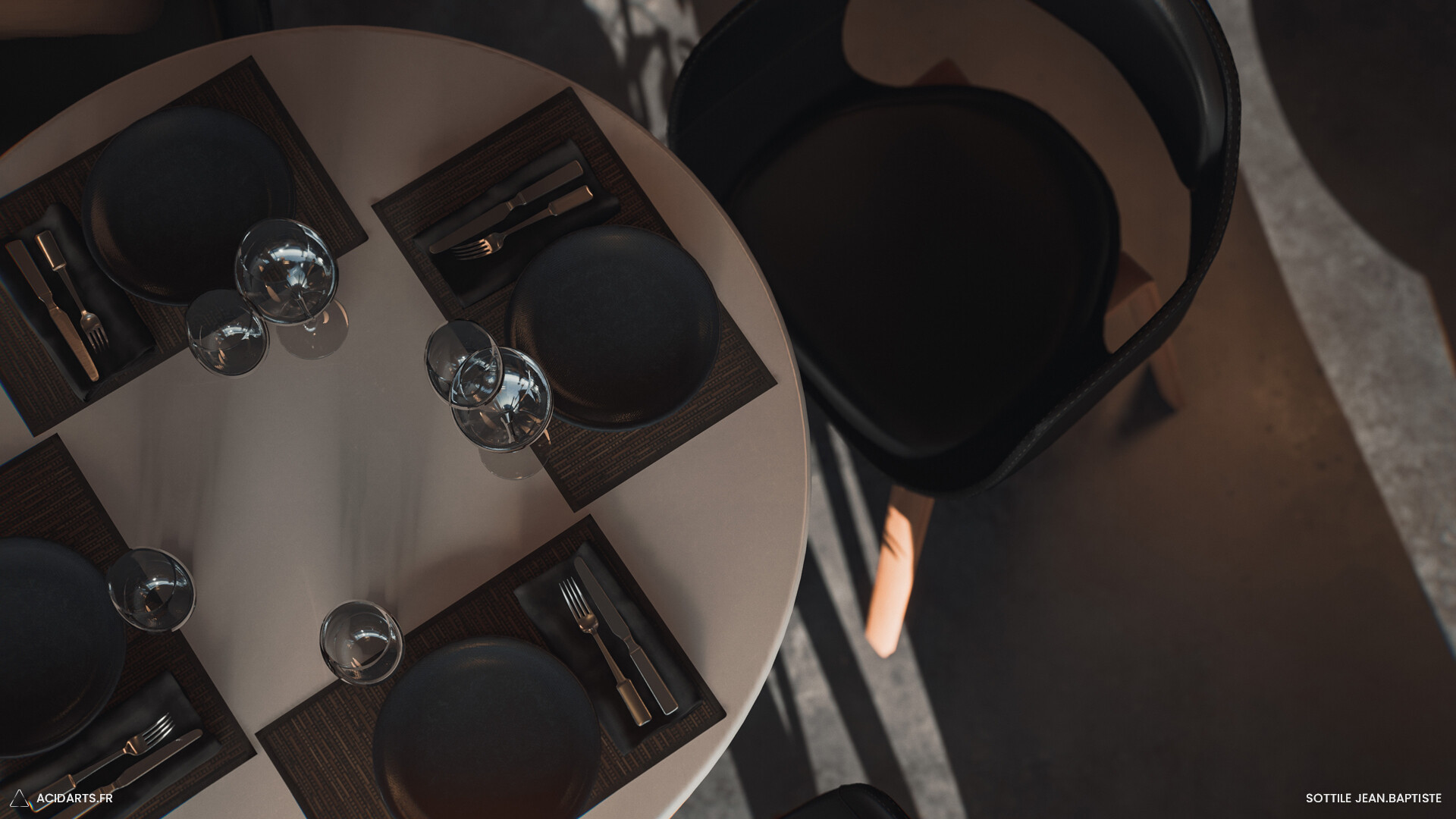 ArtStation - Modern Restaurant Realtime Rendering