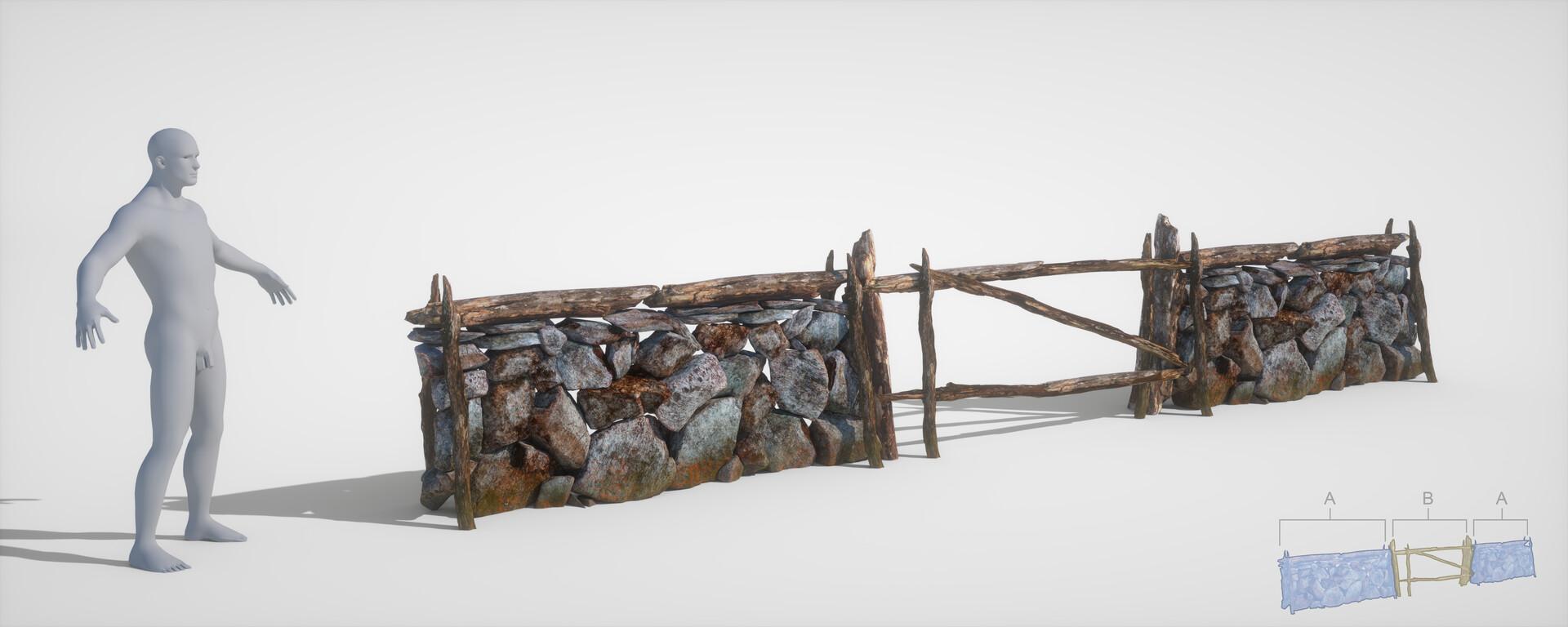 Jordi van hees stone wall gate