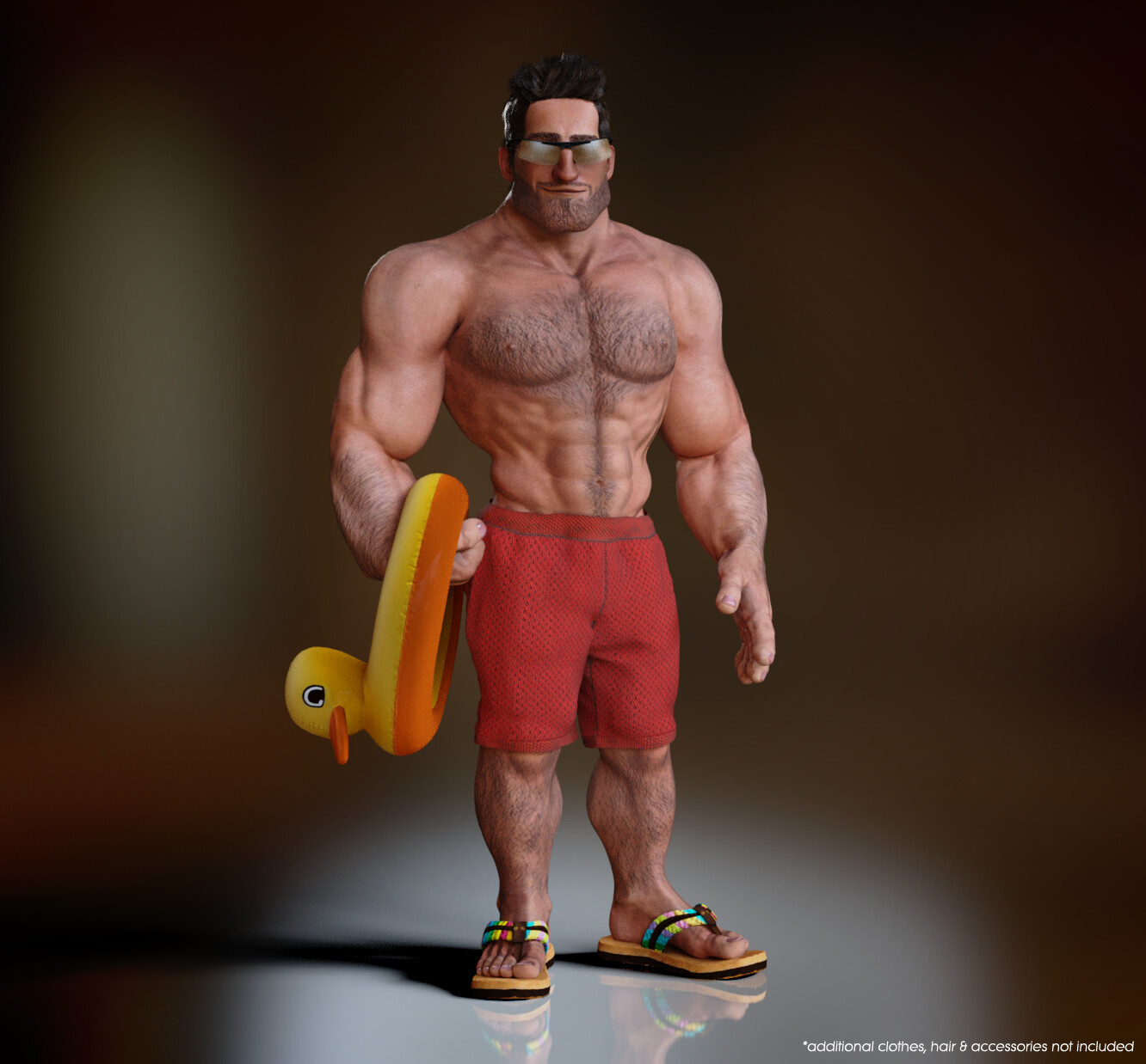 CC3 Stylized Male - Muscular Morph
