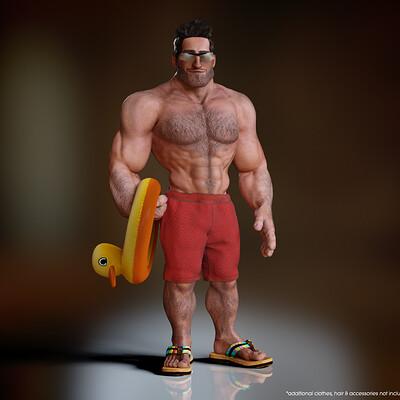 Tokomotion base male muscular promo01