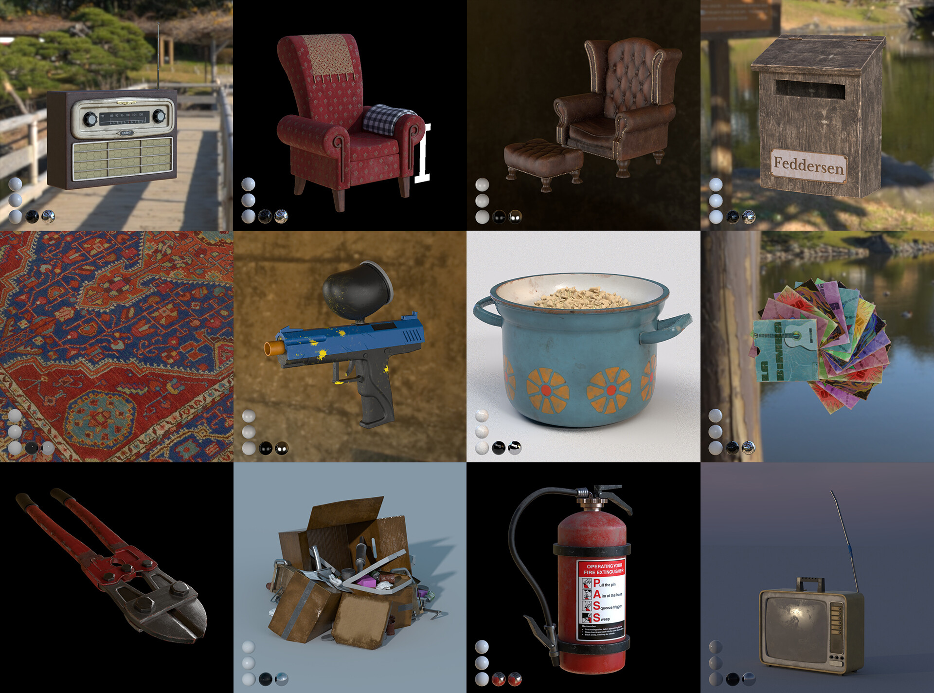 Did the Lookdev on all assets shown
