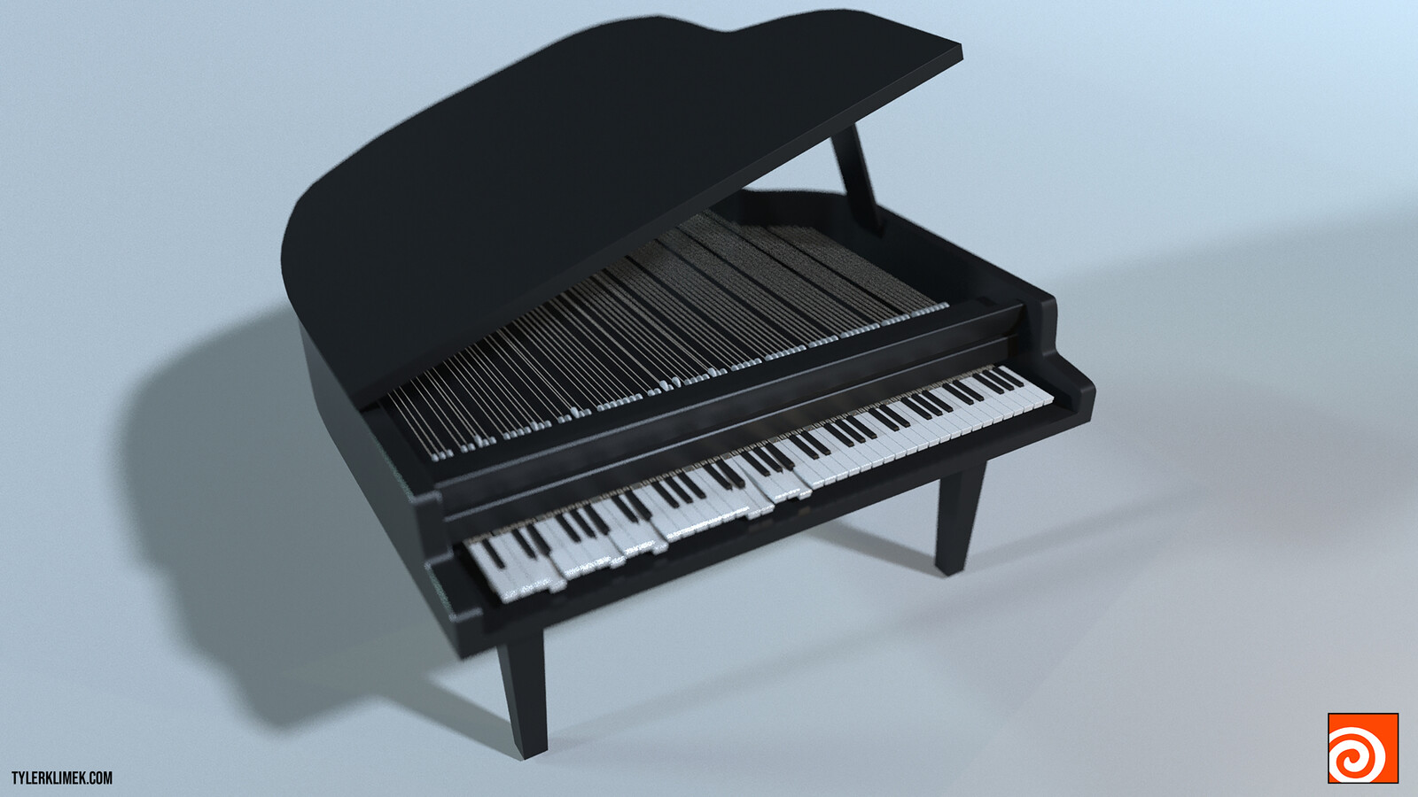 Procedural 3D Piano Animated by Music