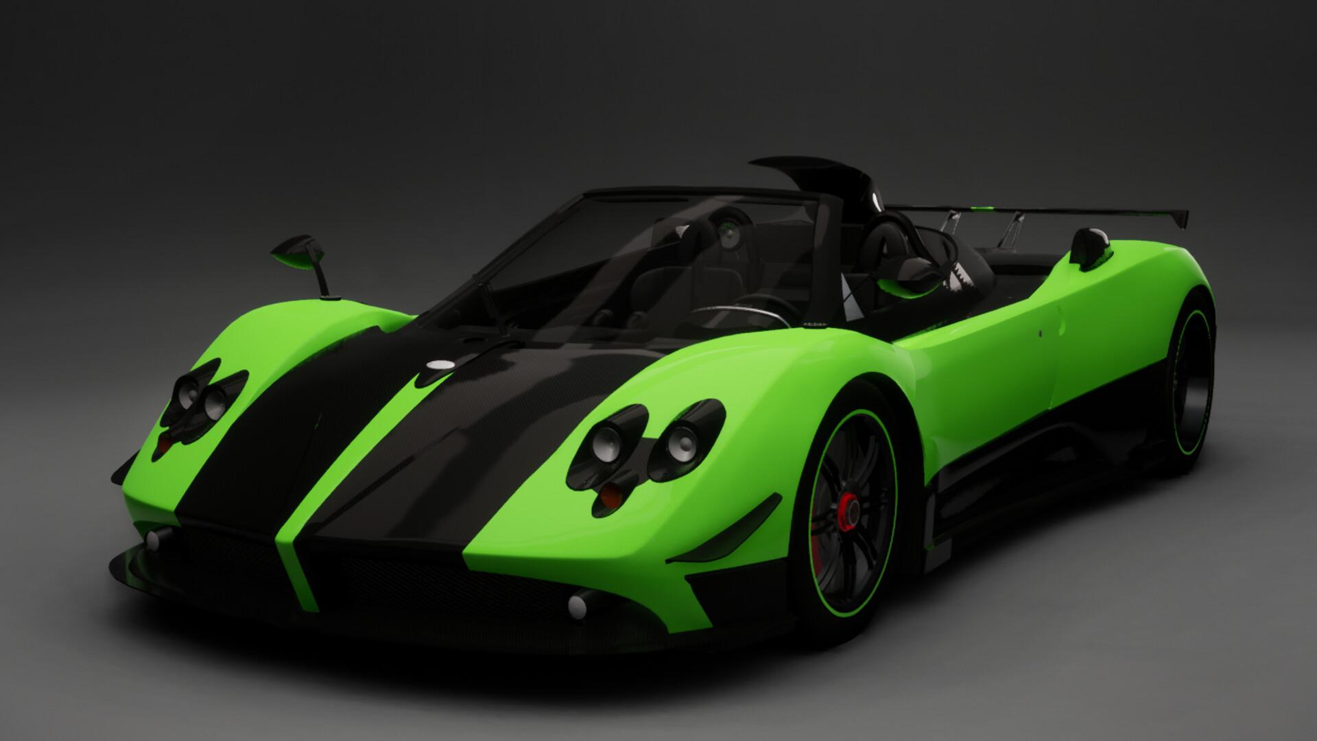 Artstation Pagani Zonda Cinque Roadster Sam Price