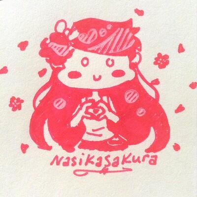 Nasika sakura pink heart hands 2019