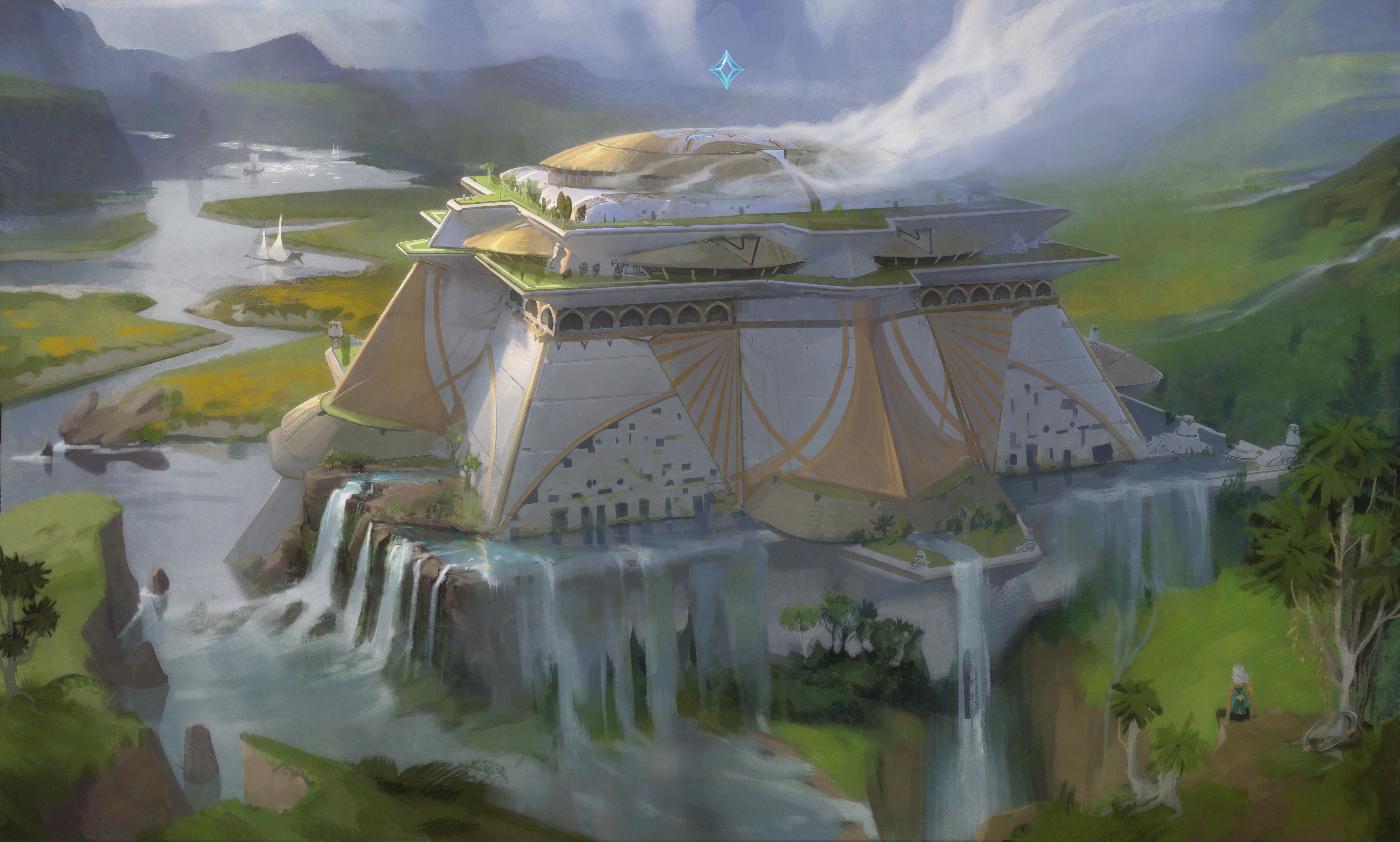 The arcologies are connected by intersecting lines of power, and each represents a specific form or discipline of elemental magic. The largest are home to tens of thousands of Ixtali practitioners, with a social hierarchy based on the length of time spent