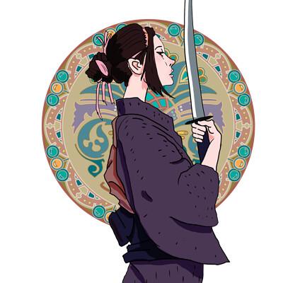 Okan bulbul samurai girl