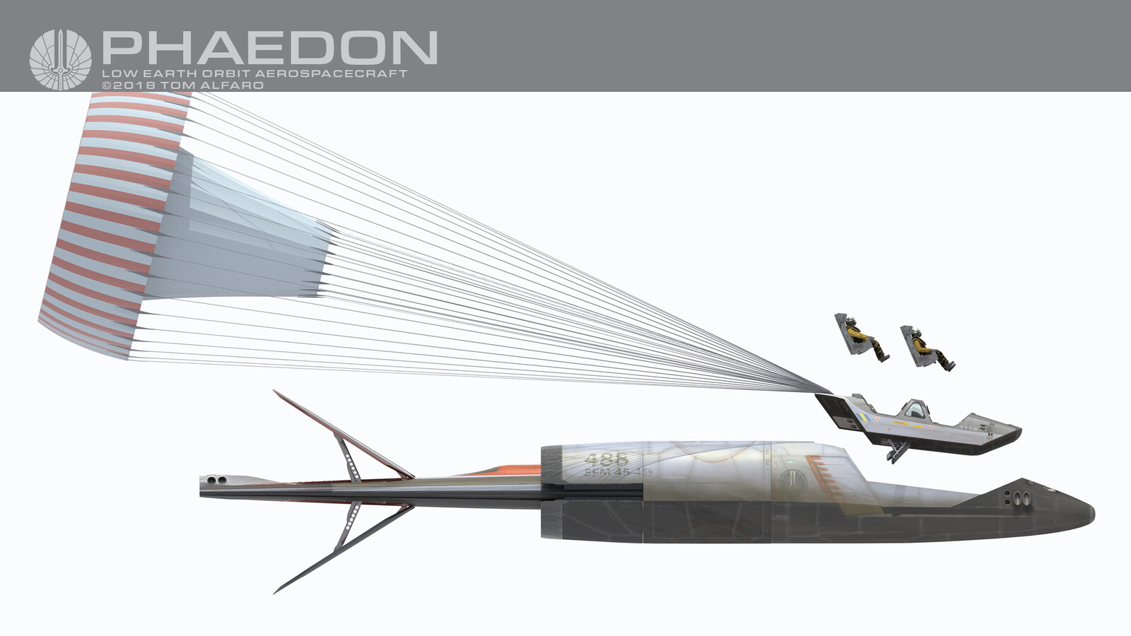 If the main fuselage in compromised during any phase of flight, the crew escape module can detach from the main vessel and attempt a safe return to earth.